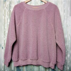 Mauve Teddy Crewneck Sweater